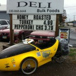 Fueling up at Amish Deli in Minerva, OH