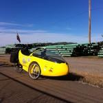 Rocket Trike in Pipe Yard